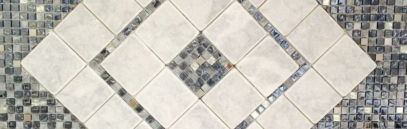 Marble and Glass Mosaic Backsplash