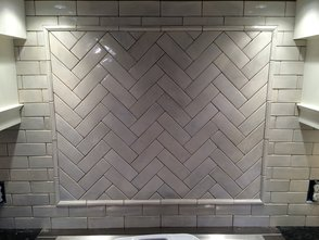 3x8 Herringbone Backsplash